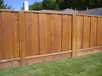redwood privacy fencing